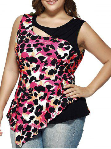 Buy Cut Out Leopard Asymmetrical Blouse