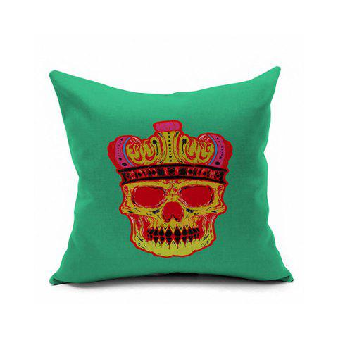 Hot Sofa Cushion Crown Skull Printed Pillow Case