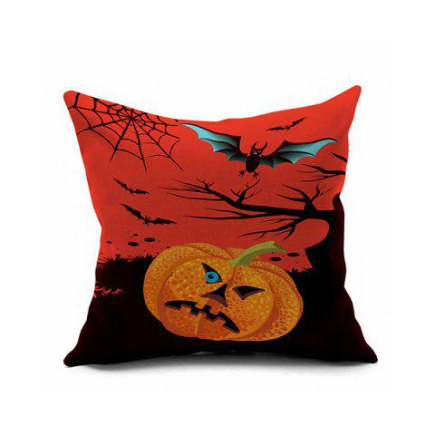 Trendy Halloween Pumpkin Bats Printed Sofa Cushion Pillow Case