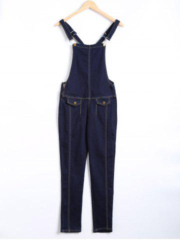 Latest Pocket Design Topstitching Racerback Overall Pants