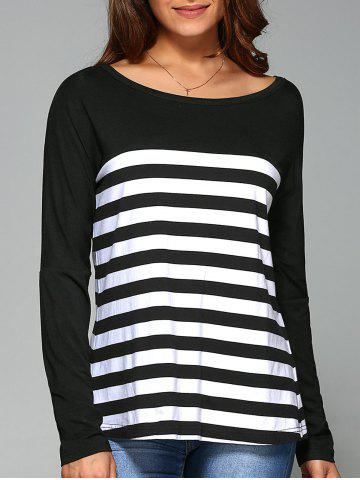 Outfits Back Slit Striped Blouse