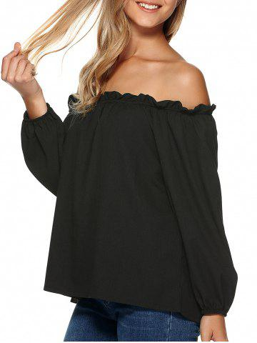 Latest Loose Off the Shoulder Chiffon Blouse