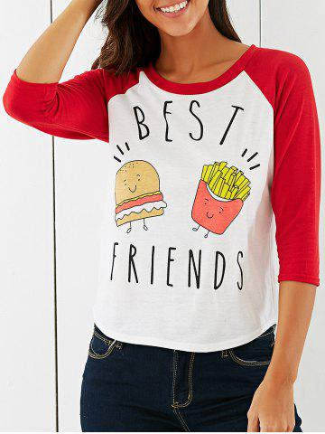 Latest Cartoon Pattern High Low T-Shirt