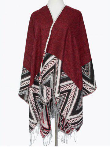 Fashion Winter Arrow Direction Zigzag Tassel Wrap Shawl Pashmina