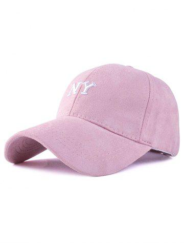 Affordable Casual NY Embroidery Faux Suede Baseball Hat