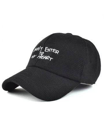 Latest Winter Letter Embroidery Knit Baseball Hat
