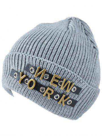 Best Winter Letter Rivet Flanging Knit Hat