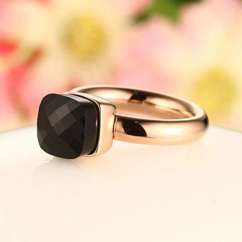 Outfit Artificial Gem Geometric Ring - 8 BLACK Mobile
