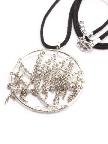 Affordable Faux Leather Velvet Life Tree Necklace
