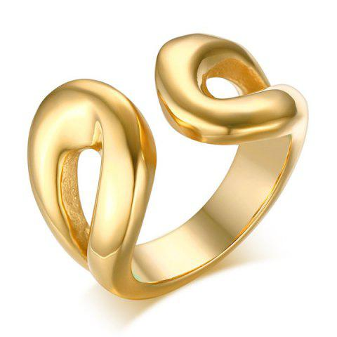 Buy Stainless Steel Cuff Ring - 8 GOLDEN Mobile