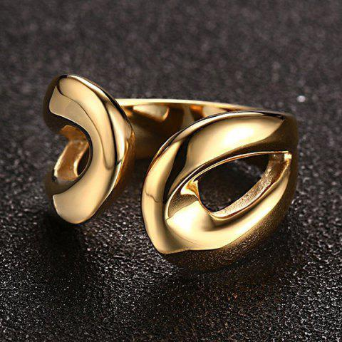 Shops Stainless Steel Cuff Ring - 9 GOLDEN Mobile