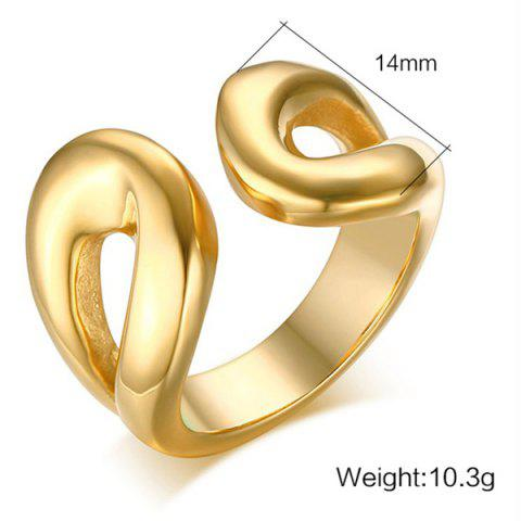 Buy Stainless Steel Cuff Ring - 9 GOLDEN Mobile