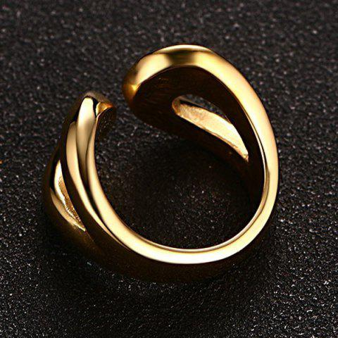 Store Stainless Steel Cuff Ring - 9 GOLDEN Mobile
