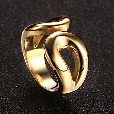 New Stainless Steel Cuff Ring - 9 GOLDEN Mobile