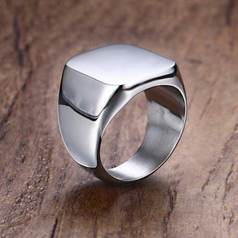Outfits Vintage Stainless Steel Geometric Ring - 9 SILVER Mobile