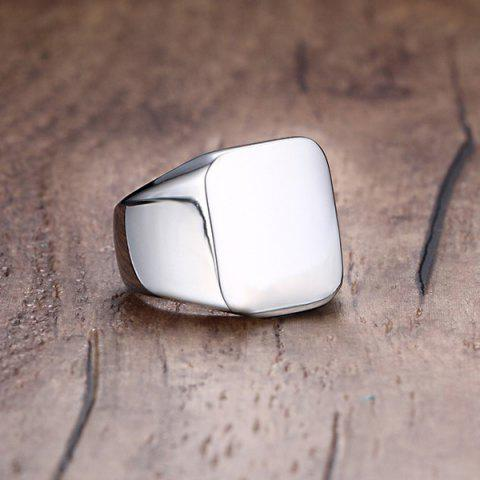 New Vintage Stainless Steel Geometric Ring - 9 SILVER Mobile