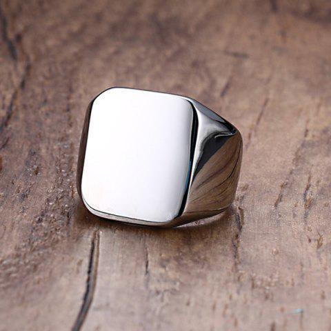 Cheap Vintage Stainless Steel Geometric Ring - 9 SILVER Mobile