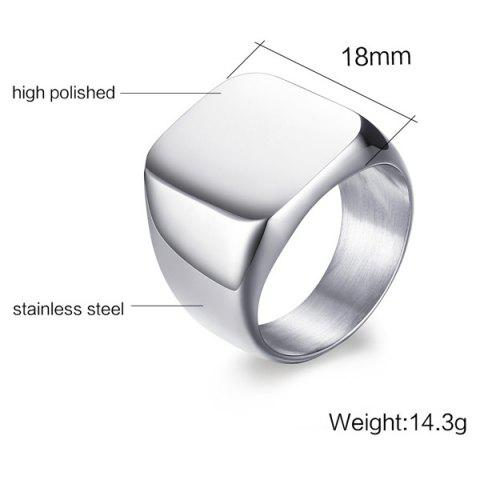 Store Vintage Stainless Steel Geometric Ring - 9 SILVER Mobile