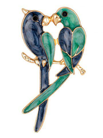 Store Enamel Birds Lovers Brooch