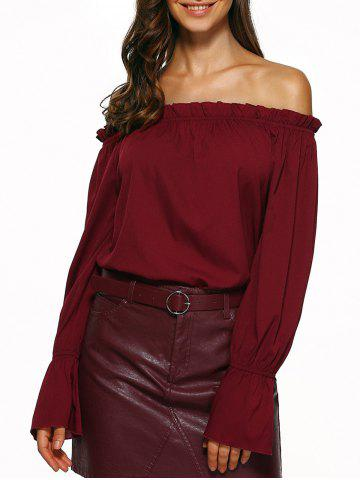 Buy Off The Shoulder Puff Sleeve Blouse