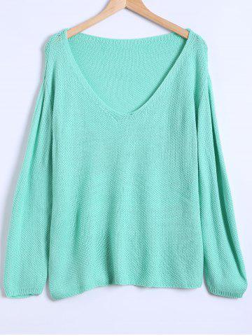 Outfits V Neck Loose Casual Sweater