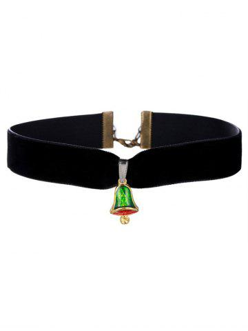 Shops Enamel Bell Velvet Wide Choker Necklace