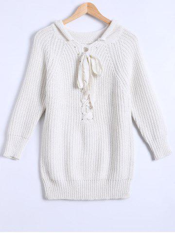 Store Lace-Up Fitting Sweater