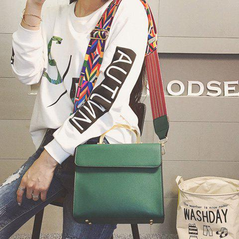 Affordable Colored Strap Metal Handle Tote