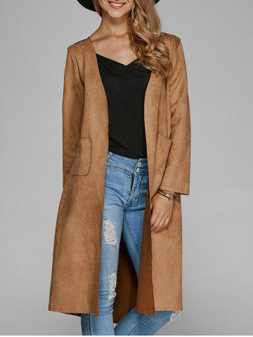 Hot Collarless Double Pockets Coat