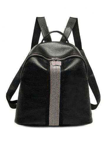 Fashion Textured Leather Beading Metal Backpack