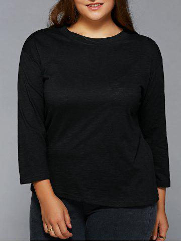 Store Plus Size Jewel Neck T Shirt