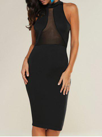 Affordable See-Through Bodycon Knee Length Dress