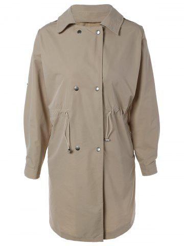Sale Double Breasted Drawstring Design Coat