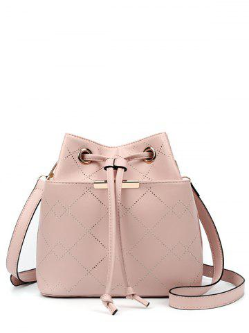 Outfit Metal Geometric Pattern Drawstring Crossbody Bag