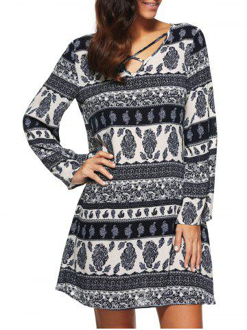 Outfit Long Sleeve Printed Dress