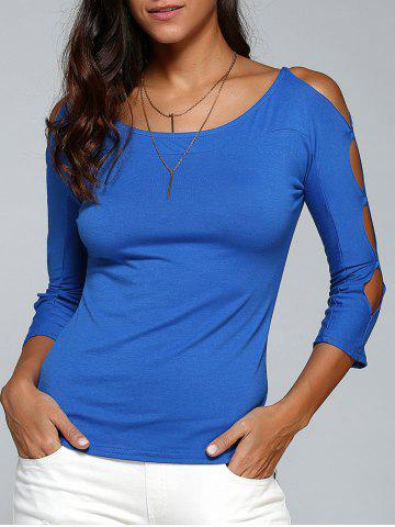 Trendy Cut Out Stretchy Slimming T-Shirt