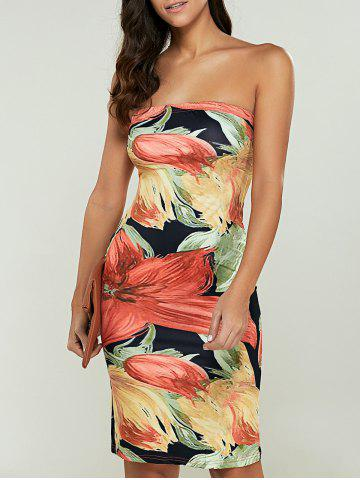 Outfit Print Strapless Bodycon Dress