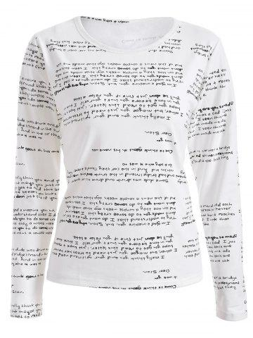 Best Long Sleeves Letter Print T-Shirt