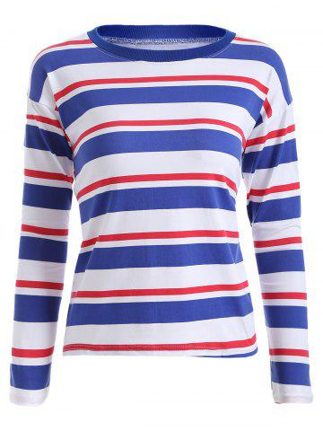 Cheap Long Sleeves Striped Pattern T-Shirt
