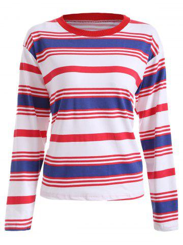 Trendy Loose Fitting Striped Print T-Shirt
