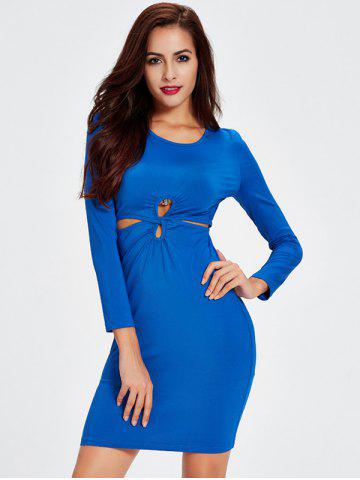Outfit Long Sleeve Knot Front Bodycon Dress