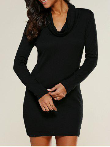 Fashion Cowl Collar Bodycon Dress