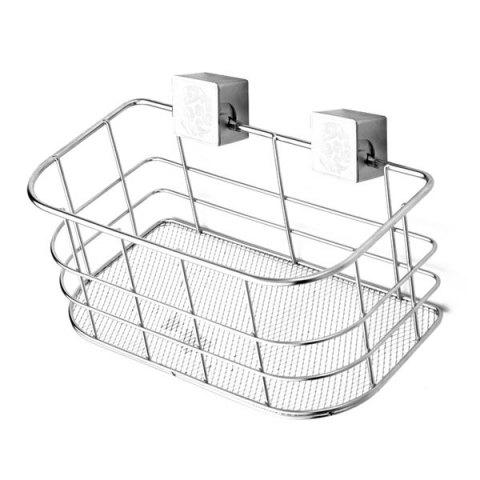 Cheap Home Decor Wall Hanger Stainless Steel Storage Basket - SILVER  Mobile