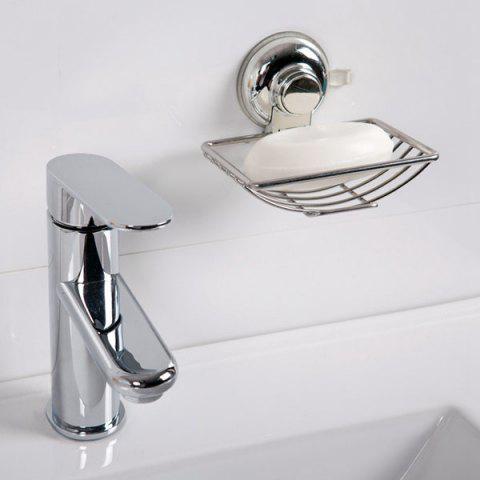 Silver good quality stainless steel wall sucker soap rack for Good quality bathroom accessories