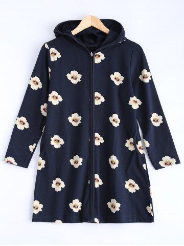Outfits Long Style Hooded Floral Coat