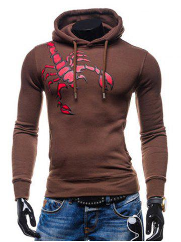Outfit Scorpion Print Drawstring Pullover Hoodie
