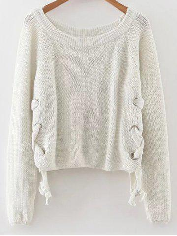 Trendy Lace-Up Casual Sweater