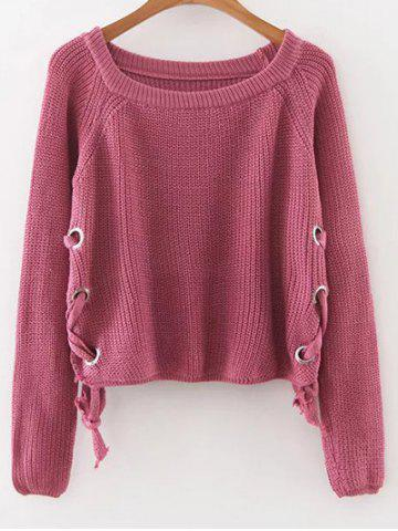 Buy Lace-Up Casual Sweater