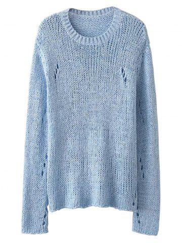 Latest See-Through Open Knit Jumper