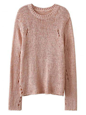 Affordable See-Through Open Knit Jumper